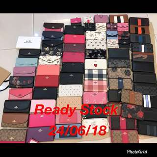 Original coach women men Wallet purse pouch purse ready Stock on hand