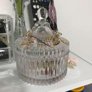 Crystal Cut Glass Jewellery Holder