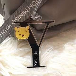 """custom bag tag - tsum tsum """"pooh"""""""