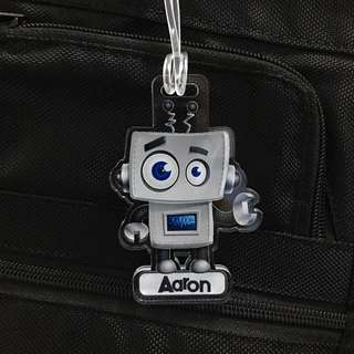 custom bag tag - robot