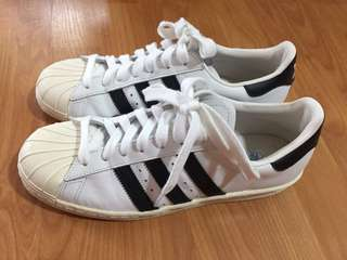 Adidas Superstar Shoes, Leather sole, no box