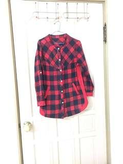 🚚 紅黑色格紋上衣
