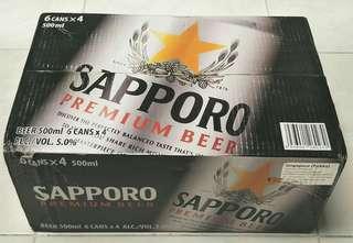Brand New Sapporo Premium Beer 6 x 4 x 500ml