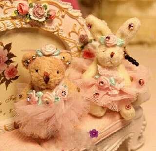Teddy & bunny pluggy