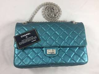 Chanel reissue 225 emerald green