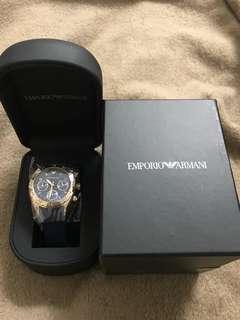 Emporio Armani Woman Sport Blue Chronograph Silicone Watch AR5939