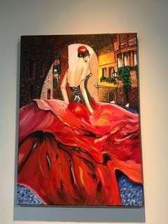 🚚  Oil painting. Spanish girl 💃🏽