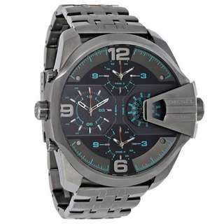 UBER CHIEF BLACK DIAL MEN'S DUAL TIME WATCH DZ7372