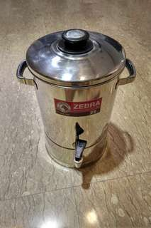 Zebra stainless steel water container