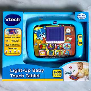 (In-Stock) VTech Light-Up Baby Touch Tablet, Exclusive Color - Blue (Brand New)