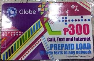 Globe Prepaid Load P300