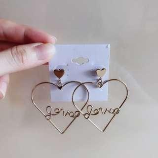 字母韓國耳環