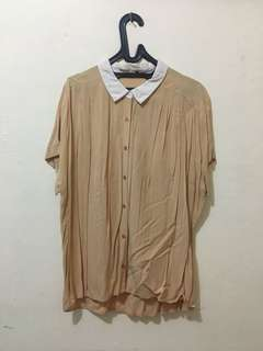 UNIQLO BROWN SHIRT