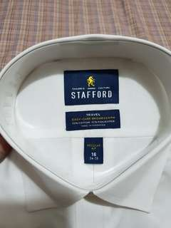 Stafford White Polo Long Sleeves