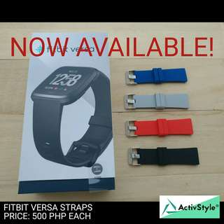 Fitbit Versa comfy replacement straps are now available.  Colors: Grey, Black, Blue, Red Sizes S and L are available