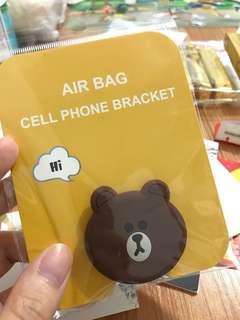 Line Friends 熊大 手機背支架 煲劇必備