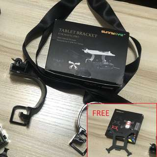 DJI Spark Mavic Tablet iPad Holder free propeller bracket