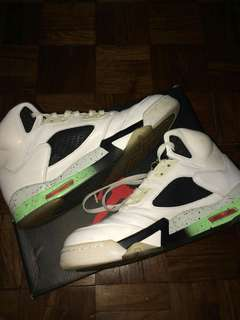 Air Jordan 5 White Infrared Poison Green