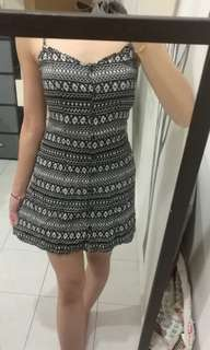 H&M double strap casual dress