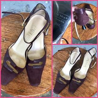 Petra Firenze Close Pointed Sandal Purple