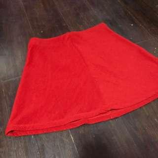 Zara Collection's Season Red Skirt