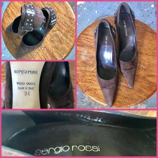 Sergio Rossi Close Pointed Shoes Brown