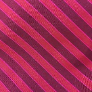 Imported red stripes silk cotton fabric