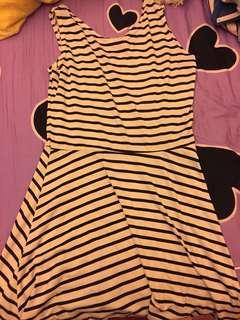 🚚 黑白條紋洋裝