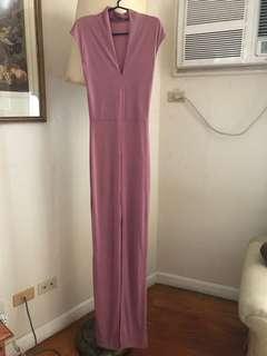 Pink Long Sexy Dress