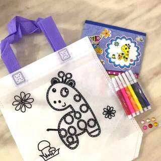 Handicrafts coloring hand carry bag (giraffe) - goodies bag gift, birthday party games