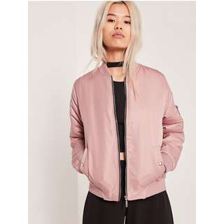 Silk-lined Bomber Jacket