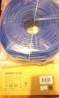 UGREEN 綠聯 六類8芯雙絞網線藍色 lan cable 100m