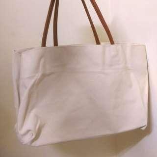 🚚 全新 手提簡約素色帆布袋 包包