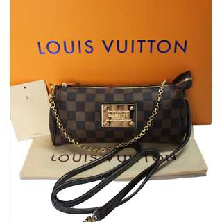 Louis Vuitton Eva Clutch Bag Damier Ebene