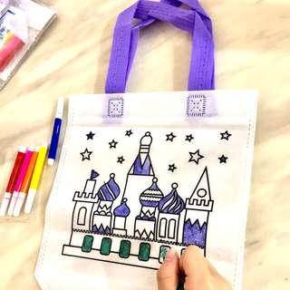Castle coloring hand carry bag- children art and craft, goodie bags