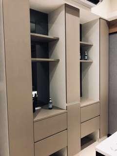 🚚 全新樣品屋系統櫃/整組賣/質感優駝色素雅/210寬.45深.250高