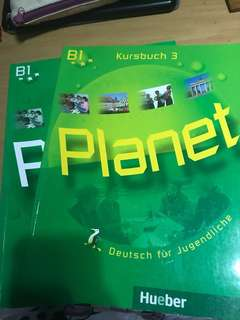 German PLANET textbook and activity book
