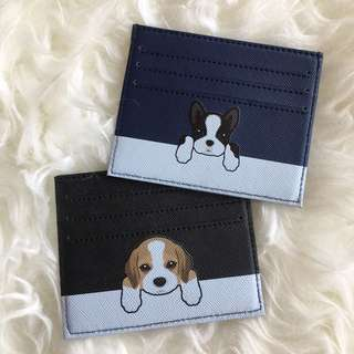 custom card holder - puppies