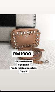 Prada Mini Camera Bag Crystal