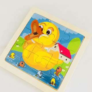 Wooden puzzle (duck) - goodies bag, toddlers party goody bag gift