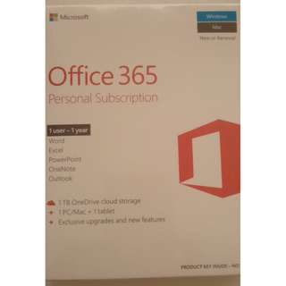 Office 365 Personal Subscription