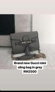Gucci Mini Sling Bag in Grey