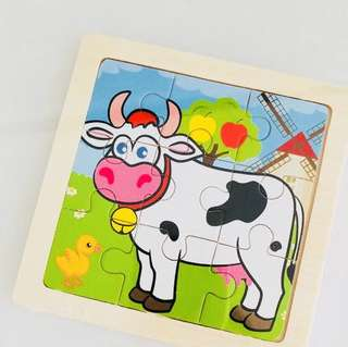 Moo moo cow wooden puzzle- animal kingdom theme goodies favors, goodies bag packages