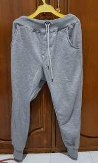 Jogger pants abu abu #kanopixcarousell