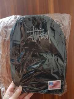 Stussy Troops USA Flag Black Nylon Cross Body Bag Shoulder