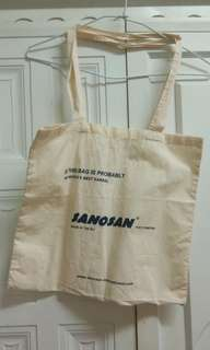 歐洲製作西班牙sanosan環保米色純棉帆布袋
