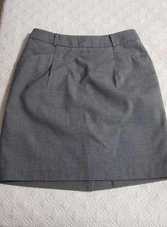 Office skirt gray