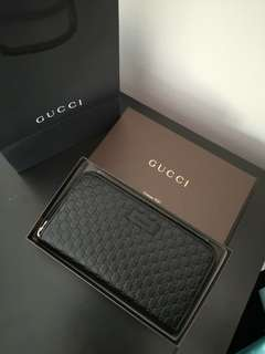 NEW Gucci Micro Guccissima Zip Around Wallet