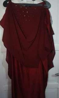Dress maroon cantik