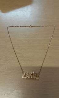 玫瑰金色 925 silver sterling 純銀 16吋 JANICE 閃石 頸鍊(see settlement location frist)